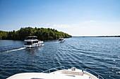 Le Boat Horizon houseboats on Big Rideau Lake, near Westport, Ontario, Canada, North America