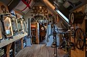 Exhibition inside the Het Wrakkenmuseum (Museum of the Wrecks), Formerum, Terschelling, West Frisian Islands, Friesland, Netherlands, Europe