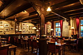Innenraum des Restaurant Het Witte Paard, Nes, Ameland, Westfriesische Inseln, Friesland, Niederlande, Europa