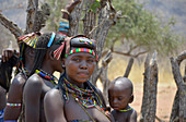 Angola; in the western part of the province of Cunene; Mucohona women; small ethnic group in the southwest of Angola