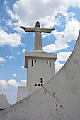 Angola; Huila Province; Lubango; Lookout point on the outskirts with the monumental statue of Christo Rei