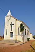 Angola; Huila Province; around Huila; Village church on the road to Huila
