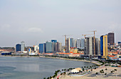 Angola; Luanda Province; Capital Luanda; View of the waterfront; called marginal; modern office buildings in the city center