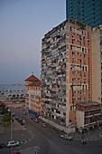 Angola; Luanda Province; Capital Luanda; Dilapidated residential building near the waterfront