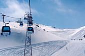 Parsenn-Skigebiet, Winter in Davos, Graubünden, Schweiz
