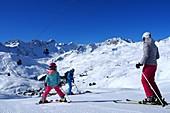 Skigebiet Arosa, Graubünden, Schweiz