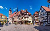 Altmarkt and Stadtkirche St. Georg in Schmalkalden, Thuringia, Germany