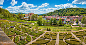 Wilhelmsburg Castle with adjoining castle grounds and gardens in Schmalkalden, Thuringia, Germany