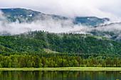 Landschaft zwischen Grong und der Insel Leka, Norwegen
