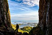 View through the Loch des Torghattan, Bronnoysund, Norway