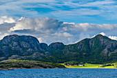 View from the Hurtigruten ship Richard With between Bronnoysund and Rorvik, Norway