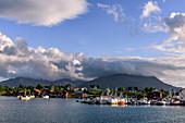 Harbor on the island of Vega, Norway