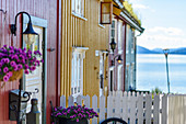 Wooden houses in the Moholmen district, Mo I Rana, Norway