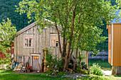 Old wooden houses in Mosjöen, Norway