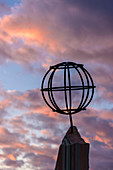 Globe as a memorial, Saltfjell with the Arctic Circle center on the E 6 road, Norway