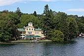Restaurant im Midgardhaus, Tutzing, Starnberger See, 5-Seen-Land, Oberbayern, Bayern, Deutschland