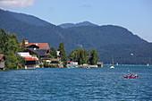 Walchensee and the municipality of the same name, Upper Bavaria, Bavaria, Germany