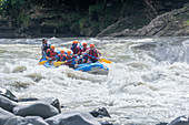 A group of people white water rafting, Pacuare River, Turrialba, Costa Rica