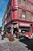 Alice's Antiques, a famous vintage shop on Portobello Road, Notting Hill, London, UK.