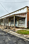 A strip of old run down vacant shops in Mandurama, New South Wales, Australia