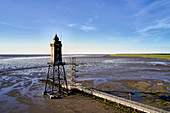 Obereversand lighthouse in Dorum-Neufeld, Lower Saxony, Germany