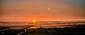 Sunset at Dorumer Tief, Dorum-Neufeld, Lower Saxony, Germany