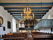 Church interior of St. Urbanus Dorum, Lower Saxony, Germany