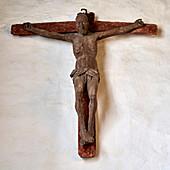 Wooden cross in the St. Urbanus church Dorum, Lower Saxony, Germany