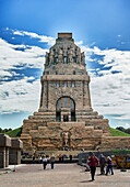 91 meter high monument to the Battle of Nations of 1813 with viewing platform and historical museum, Leipzig, Sachgsen, Germany