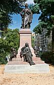 Felix Mendelssohn Bartholdy Monument, Dittrichring, Leipzig, Saxony, Germany
