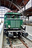 Historic locomotives at Leipzig Central Station, Saxony, Germany