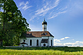 St. Andreas near Etting on a sunny summer afternoon, Etting, Polling, Upper Bavaria, Bavaria, Germany