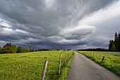 Storm clouds over the Oberland, Weilheim, Bavaria, Germany