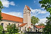 The Roman Catholic parish church of St. Magnus in Huglfing, Bavaria, Germany, Europe