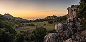 Evening mood on the west coast of Mallorca, Balearic Islands, Spain, Europe