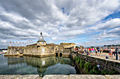 View of the Ville Close of Concarneau, Brittany, France, Europe