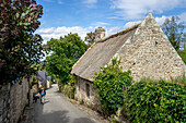 A summer day in Locronan, Finistère, Châteaulin, Brittany, France