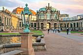 Inner courtyard of the Dresden Zwinger in Dresden, Saxony, Germany