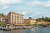 Lake promenade of Bellagio seen from the sea side, Lombardy, Italy