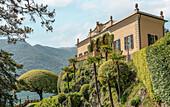 Garden of the Villa Balbianello in Lenno on Lake Como, Lombardy, Italy