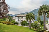 Main building of the Villa Melzi D Eril in Bellagio on Lake Como, Lombardy, Italy