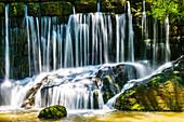 Geratser waterfall, near Rettenberg, Allgäu, Bavaria, Germany, Europe