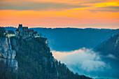 Werenwag Castle, Upper Danube Nature Park, Swabian Alb, Baden-Wuerttemberg, Germany, Europe