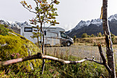 Motorhome at Sildpollnes, Lofoten, Norway