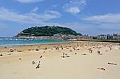Playa La Concha, Donostia-San Sebastian, Basque Country, Spain