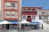 Taverns at the old port of Bermeo, Urdaibai Biosphere Reserve, Basque Country, Spain