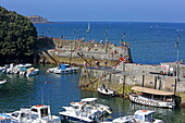 Harbor basin of the village of Mundaka, Urdaibai Biosphere Reserve, Basque Country, Spain