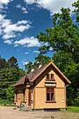 Historic wooden train station building, Graefsnäs, Västra Götaland, Sweden