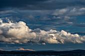 Dramatic clouds and intense light at Lake Siljan, Rättvik, Dalarna, Sweden