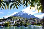 View from Spiez on Lake Thun, Bernese Oberland, Switzerland